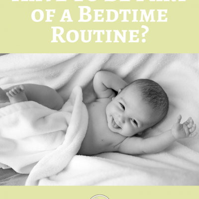 Does a bath have to be part of a bedtime routine?